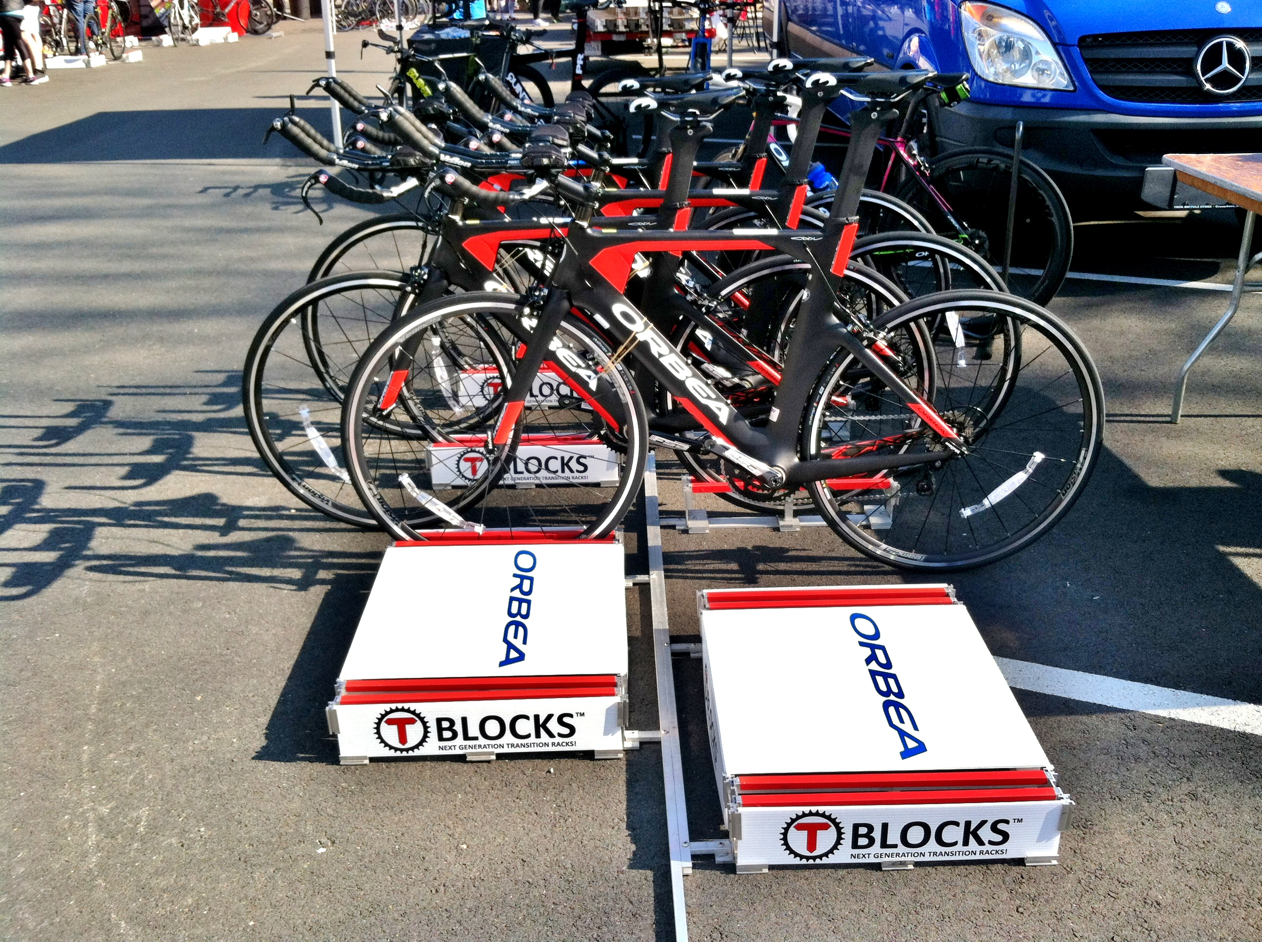 TBLOCKS Triathlon Transition Racks